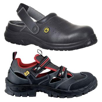 sandalias de seguridad, abiertas, punta reforzada